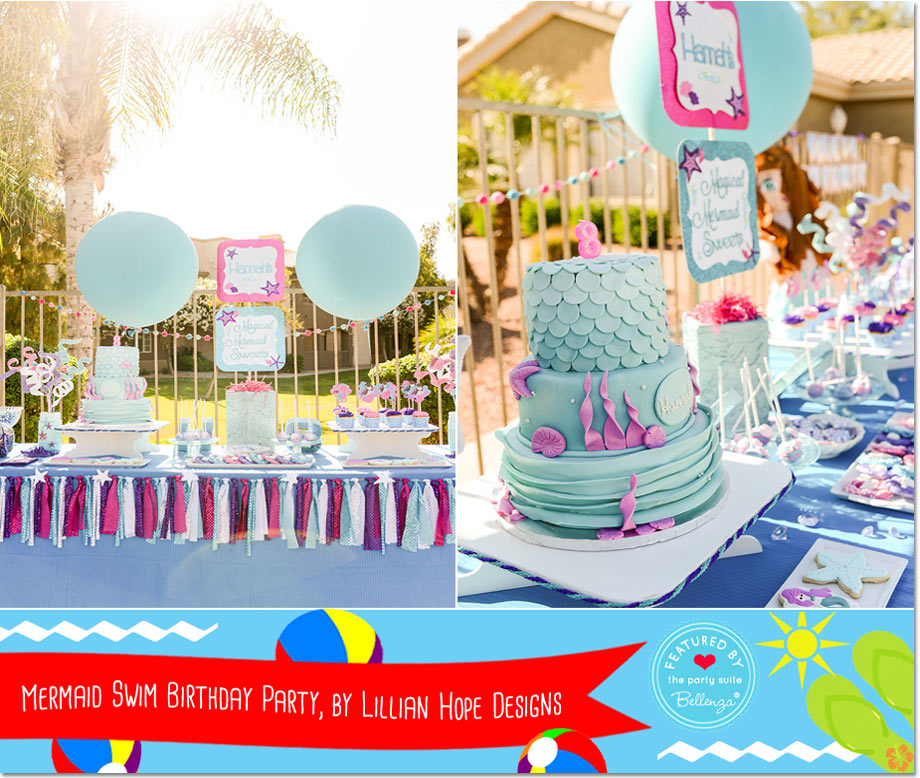 Mermaid Swim Birthday Party, by Lillian Hope Designs // a Bellenza Featured Party