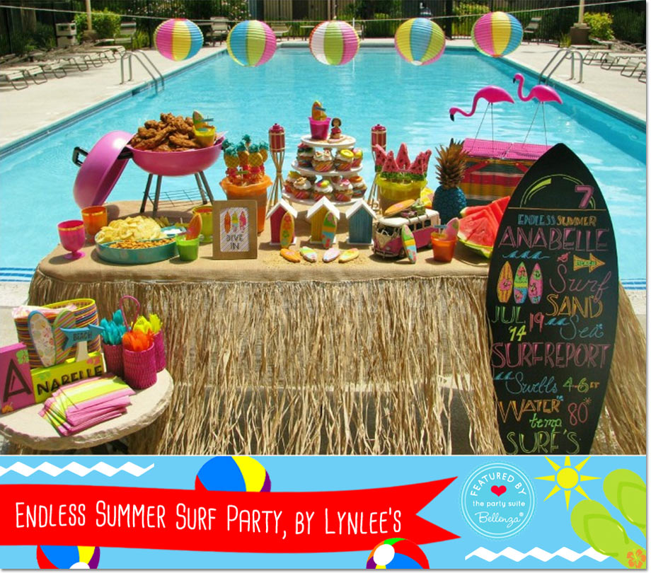 themed pool party birthday ideas from 5 awesome party blogs
