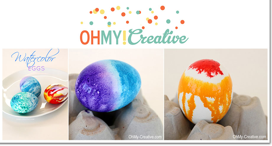 Watercolor Easter Eggs by Oh My Creative