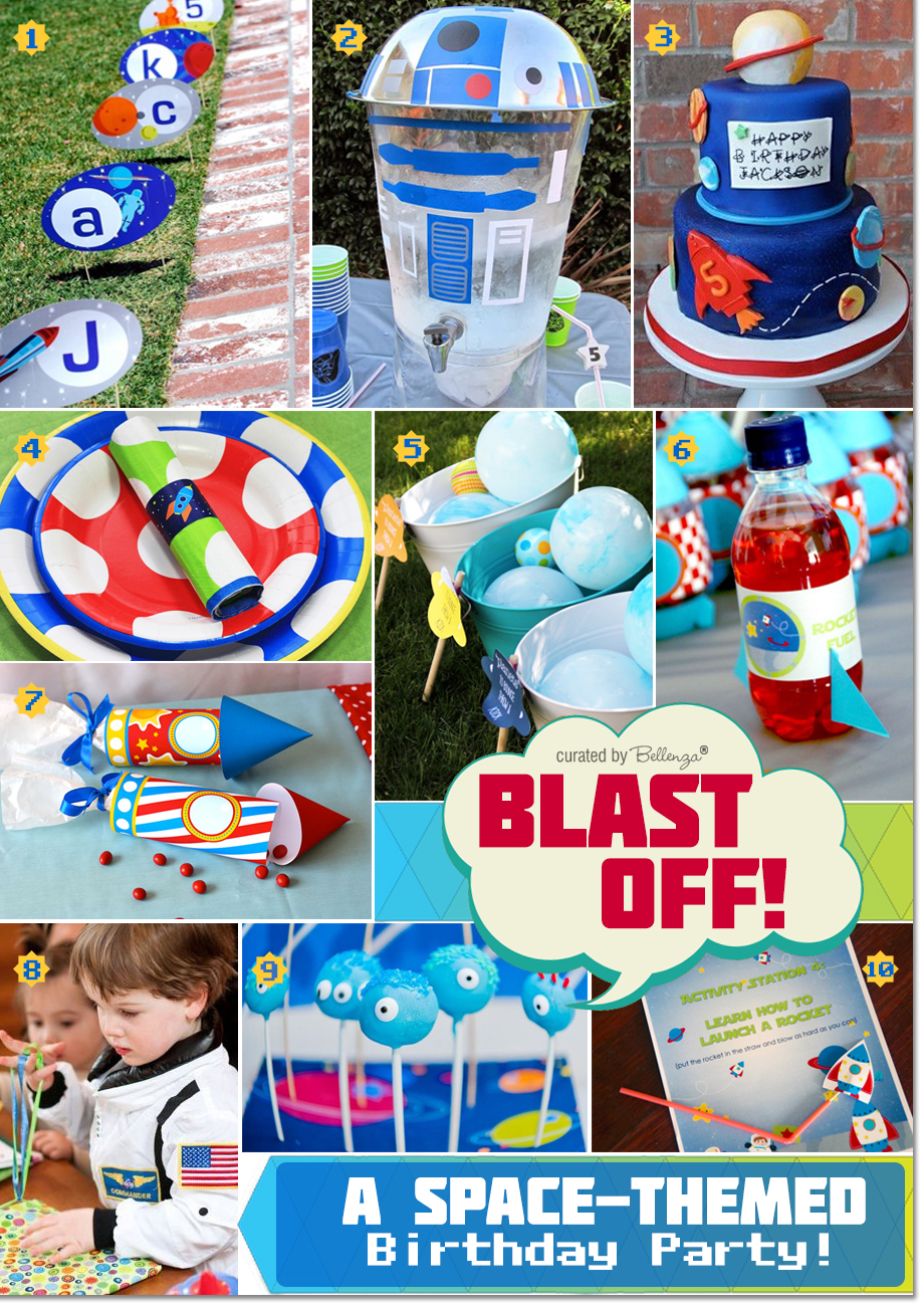 Space Themed Kids Birthday Ideas from Decor to Favors