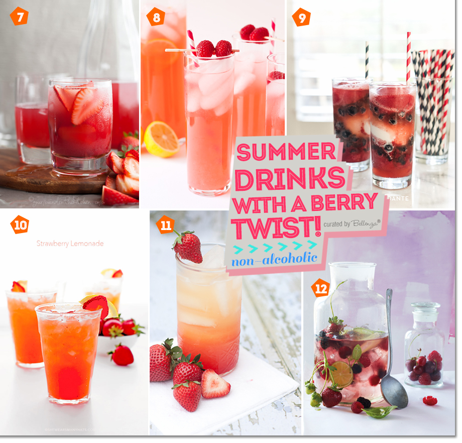 Summer Drinks with Berries that are Non-Alcohol Based as featured on the Party Suite at Bellenza