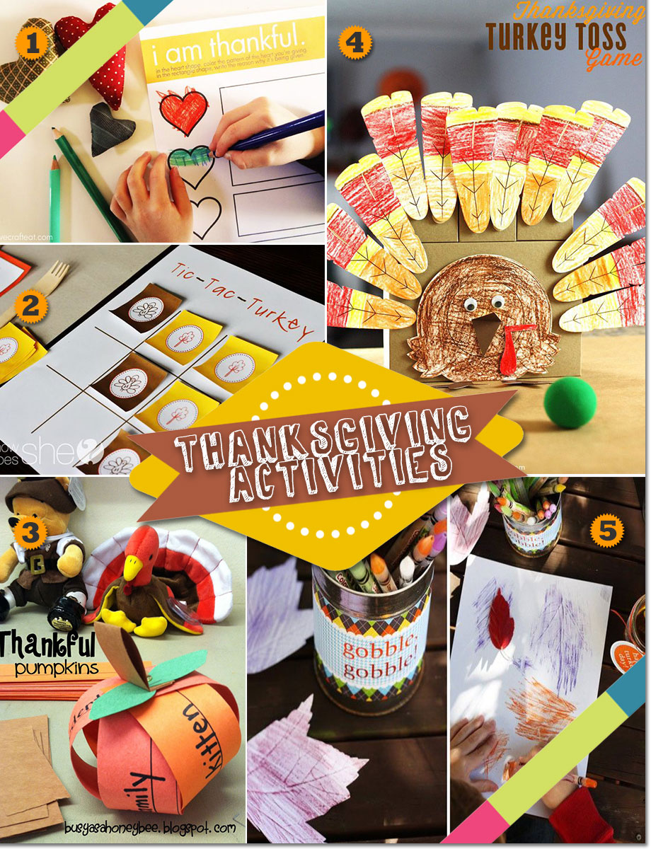 Thanksgiving party activities and games for kids