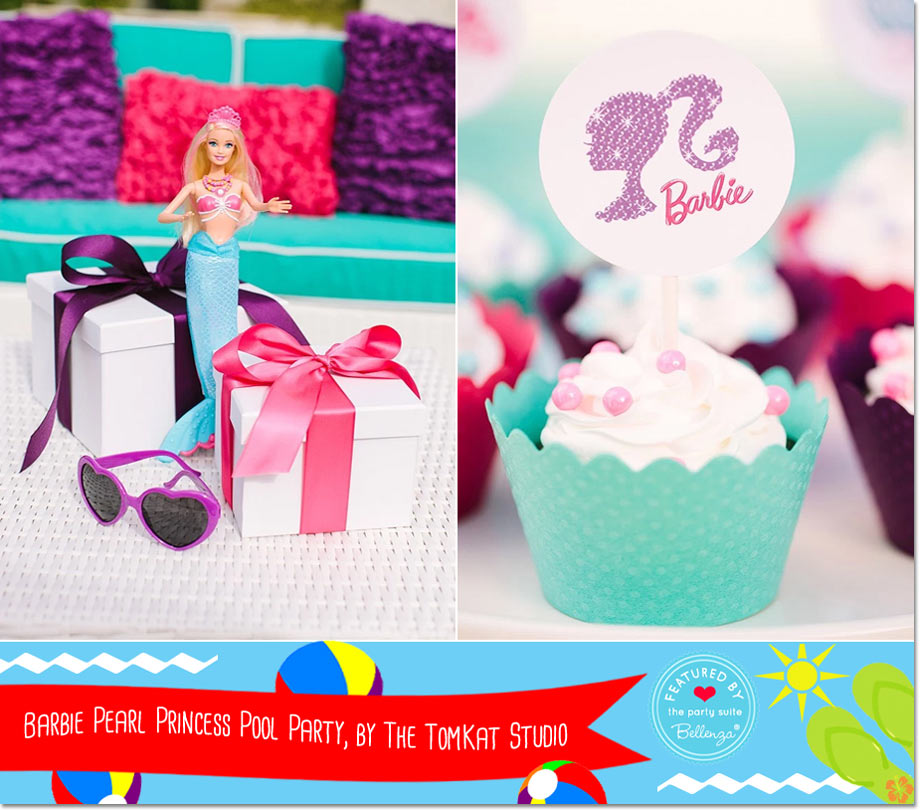 Barbie Pearl Princess Pool Party, by The TomKat Studio via Celebration Lane // a Bellenza Featured Party