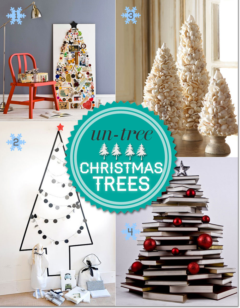 alternative christmas trees using recycled materials