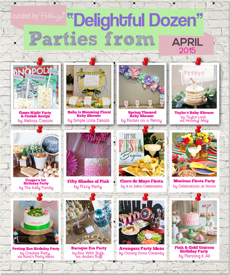 Fabulous Styled Parties for April | as featured on the Party Suite at Bellenza. #styledshoots #partythemes