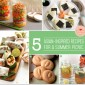 Asian inspired summer picnic with light and savory flavors