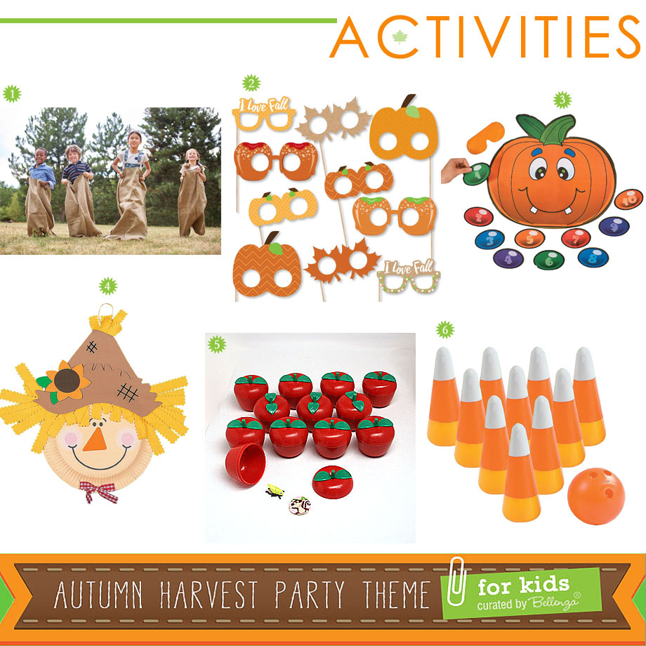 Autumn Harvest Party Activities and Games for Kids