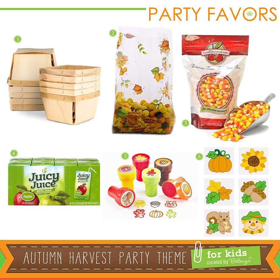 Autumn Harvest Party Favor Ideas for Kids