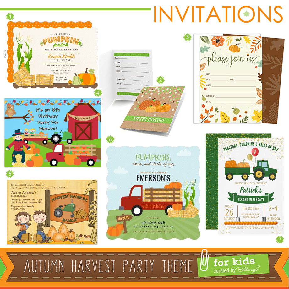 Invitations to an Awesome Autumn Harvest Gathering