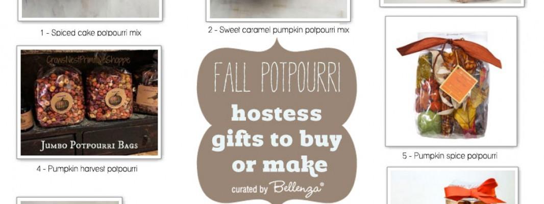 Autumn potpurri recipe gift ideas using ingredients from apple to cinnamon to pumpkin spice.