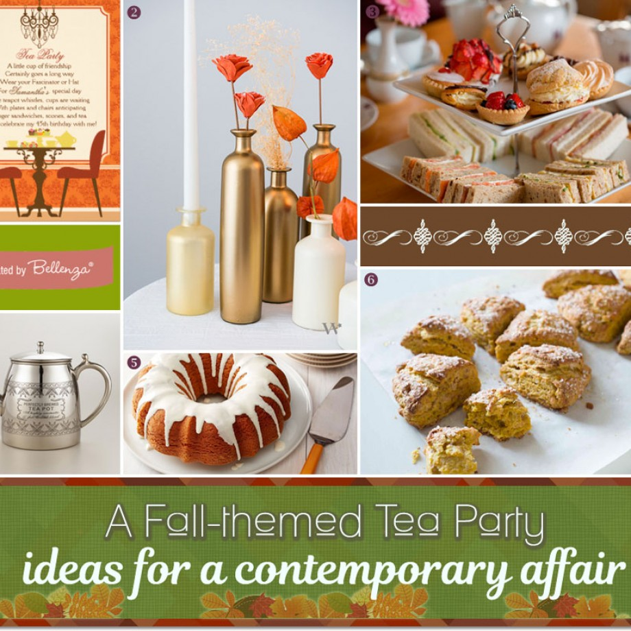 Inspiring Ideas for an Autumn Tea Party