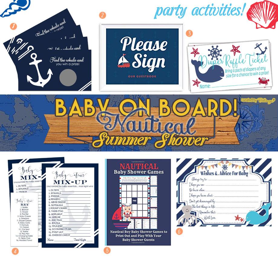 Nautical baby shower activities