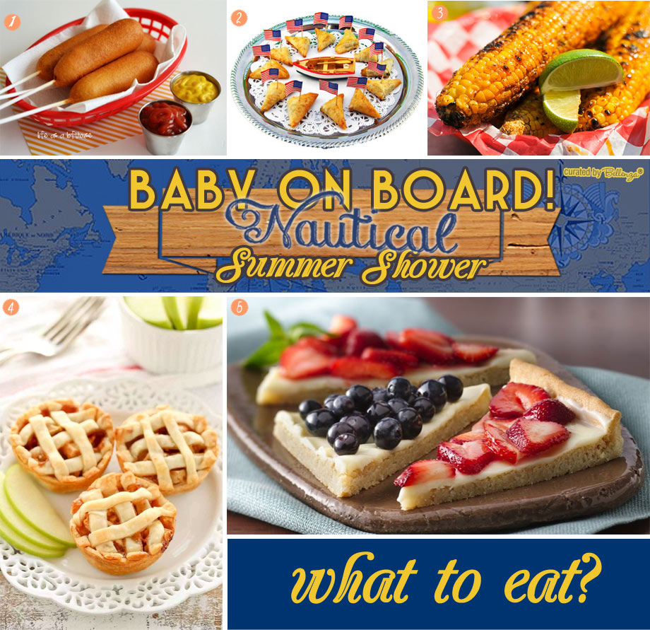 Baby on Board Nautical Baby Shower Food