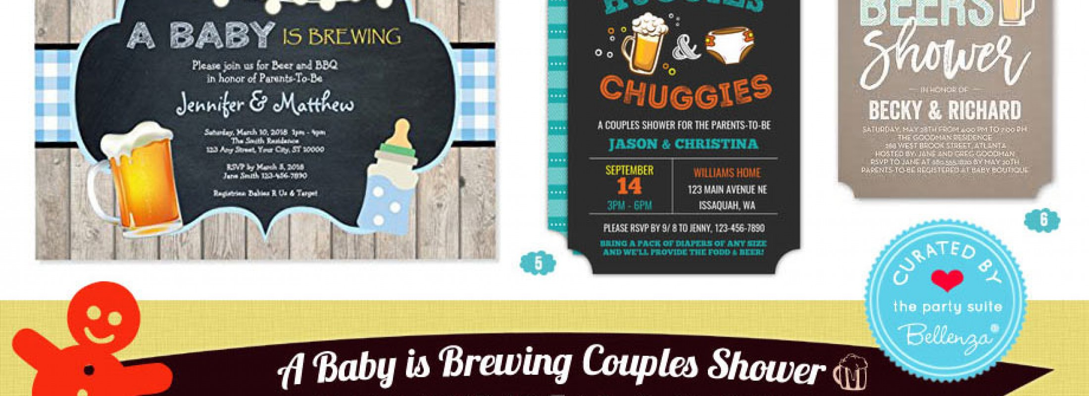 Couples Baby Shower Baby is Brewing Beer Theme