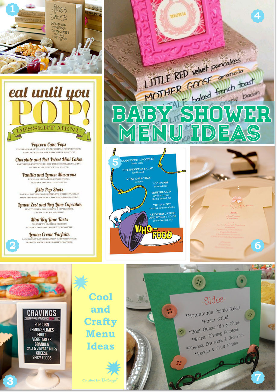 Cool and Creative Baby Shower Menu Design Ideas!