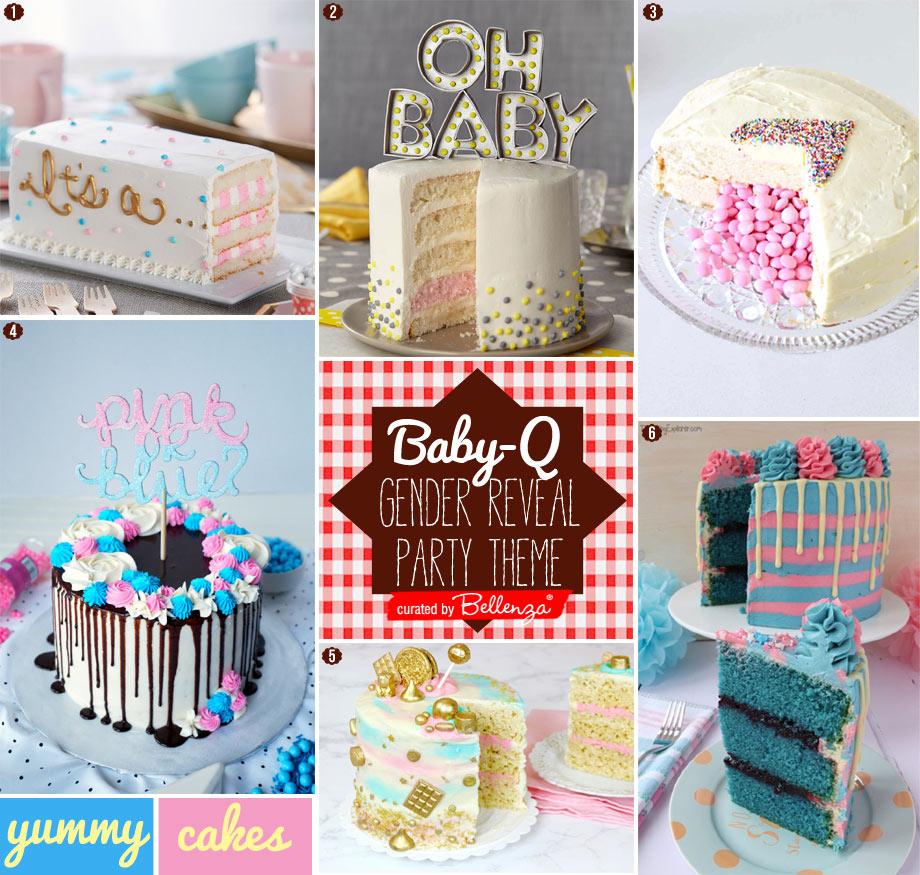 BabyQGender Reveal Cakes