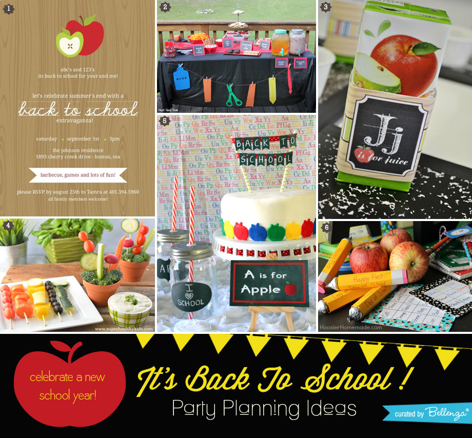 6 simple ways to plan a fun back to school party.