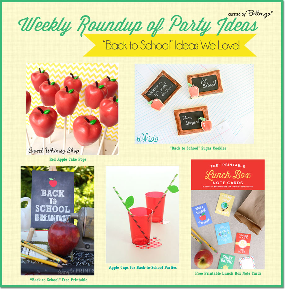 Back to School Party Ideas From Apple Cake Pops to Chalkboard Cookies to Free Printables.