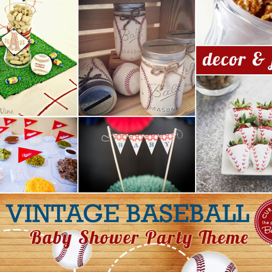 Baseball themed baby shower inspiration