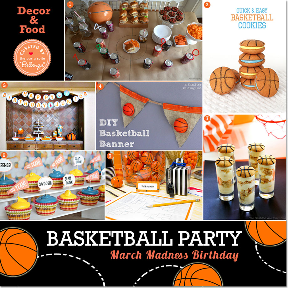 Basketball Party Decor and Food | The Party Suite at Bellenza