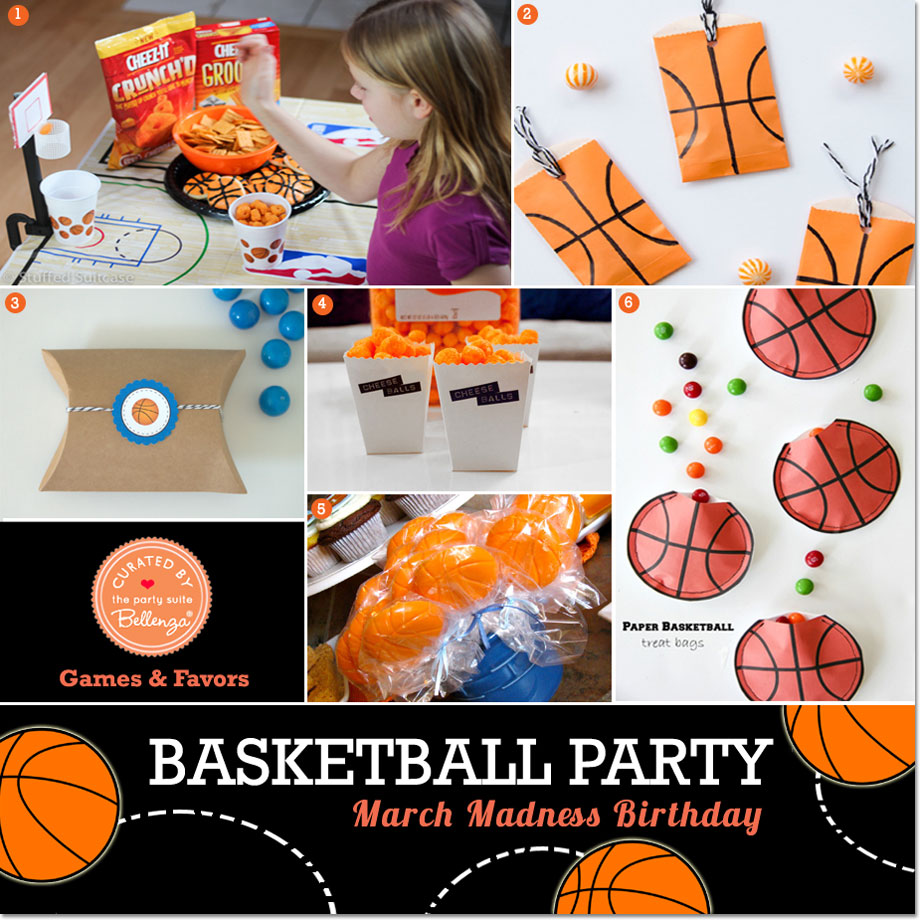Basketball-themed Games and Favors | The Party Suite at Bellenza