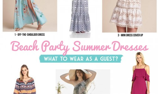 Beach guest party dress finds by Bellenza.