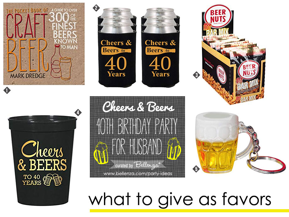 Cheers and Beers 40th Birthday Favors