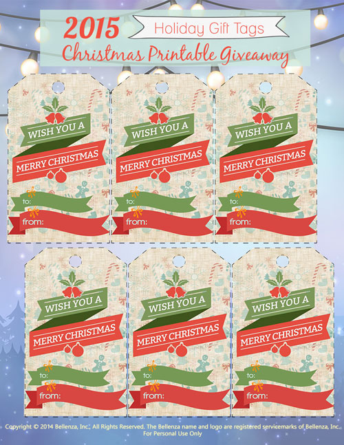 Bellenza gift tags