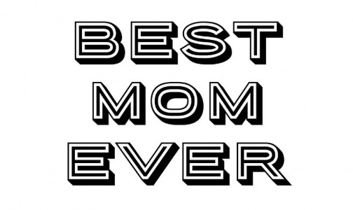 A free printable for best mom ever that Dads can download for their kids to color as a Mother's Day gift. By Bellenza.