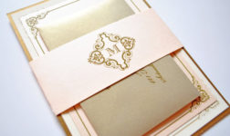 Gold invitation by Whimsy B Designs