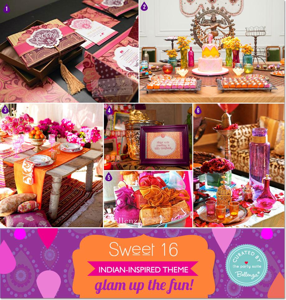 Indian Bollywood Glam Sweet 16 Theme