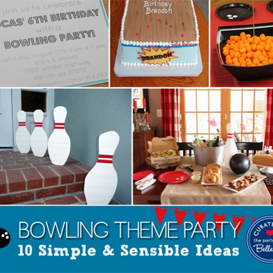 10 Ways to Host a Bowling Birthday Party with Homemade Ideas
