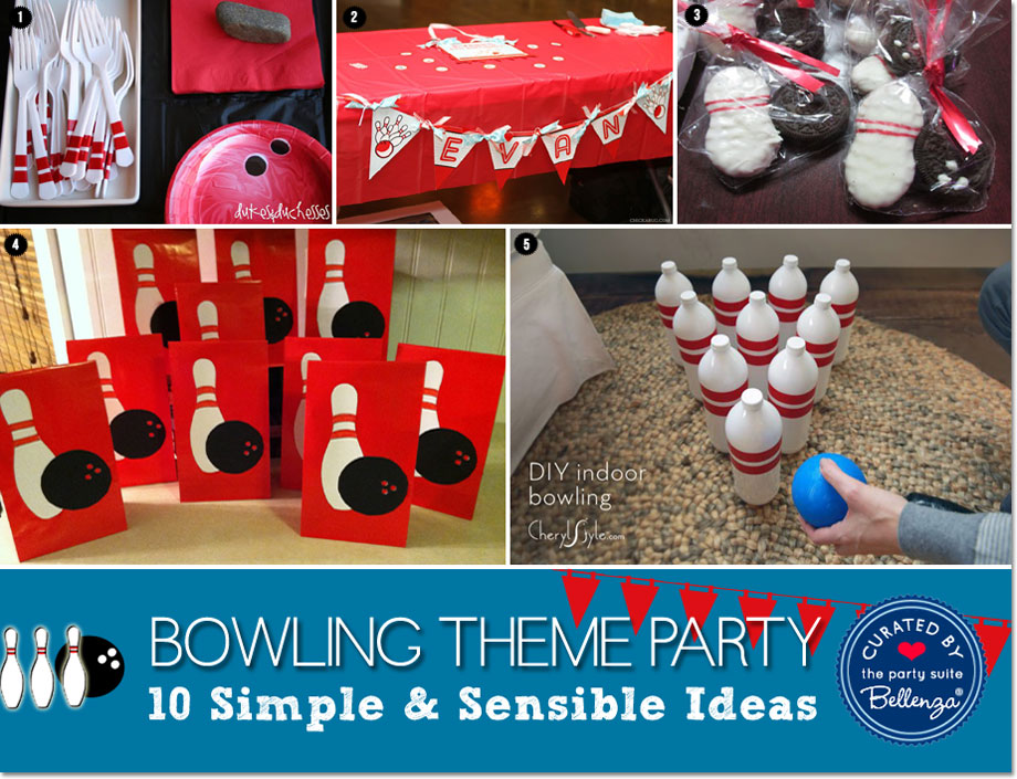 Bowling Birthday Party Favors and Activity