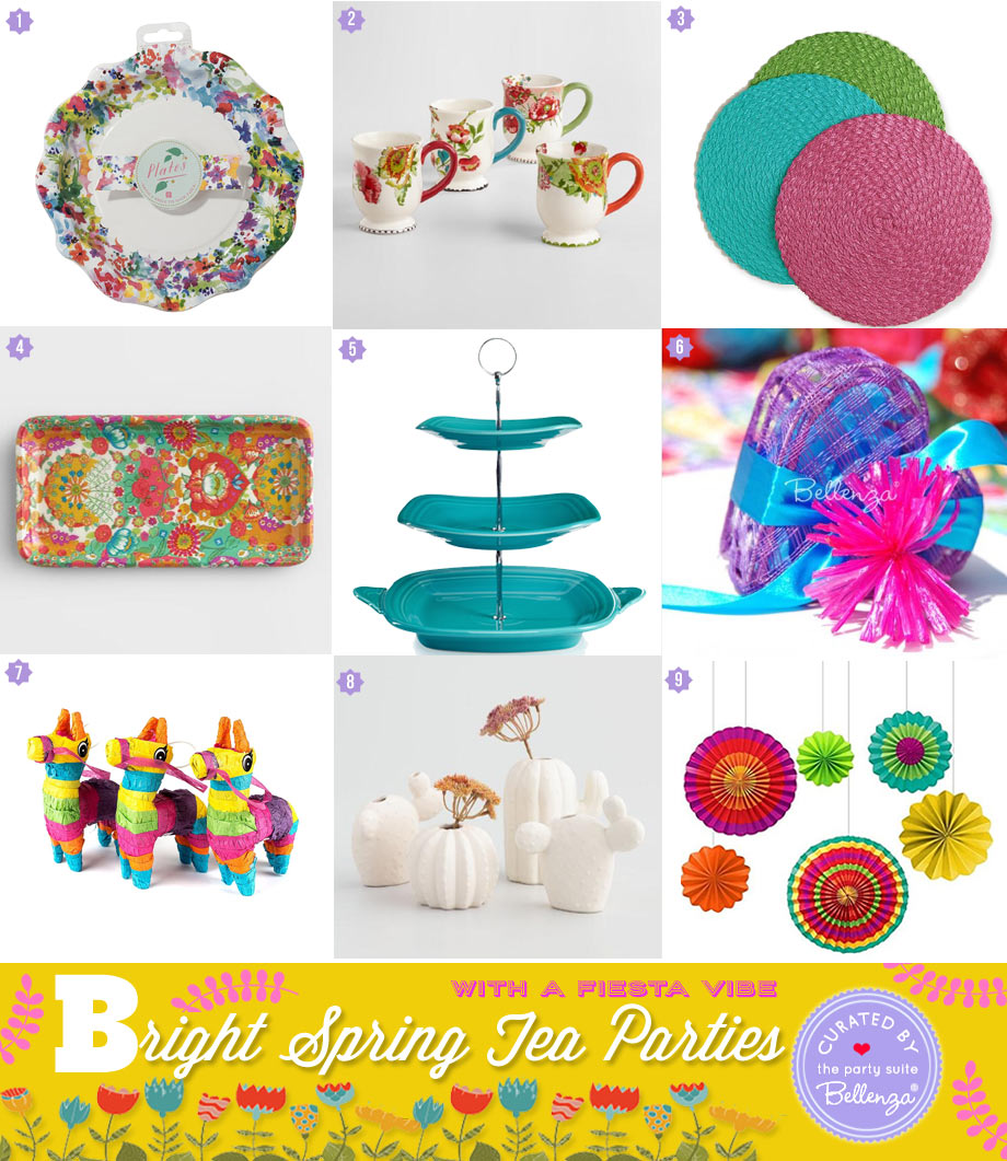 bright, spring tea parties products to use