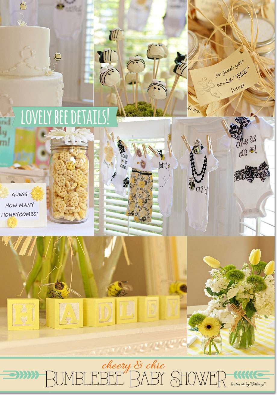 Bee Themed Sweets And Cake Table From Rustic White Photography