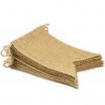 3 - Burlap bunting