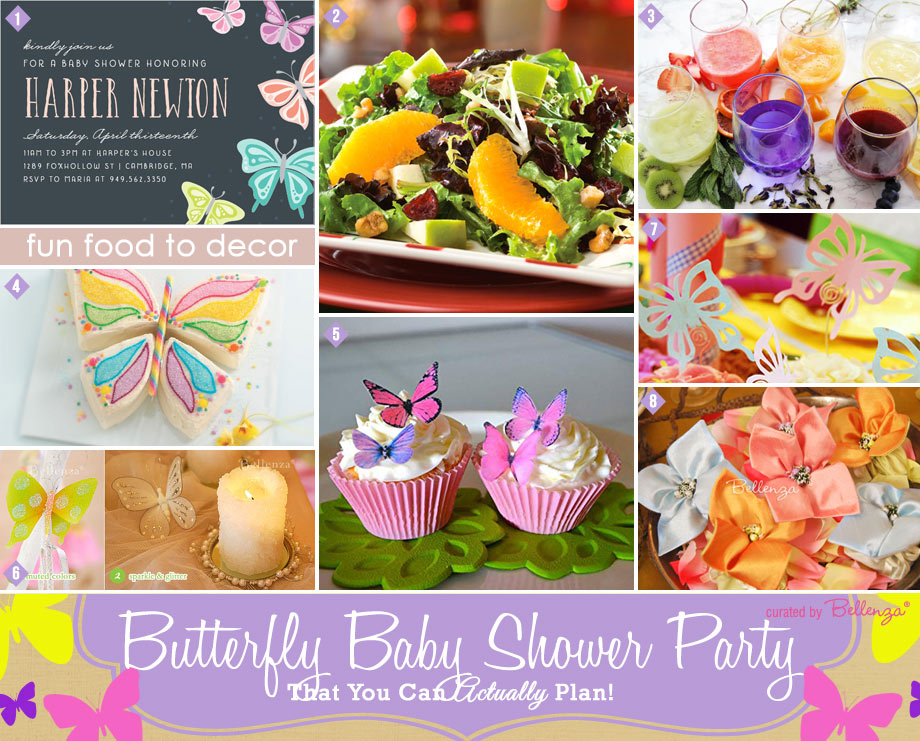 Butterfly Baby Shower Party for a Spring Celebration from Food to Favors