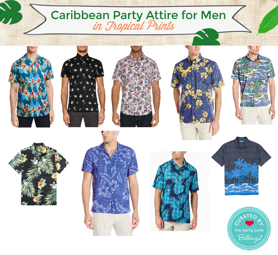 Caribbean party shirts for men