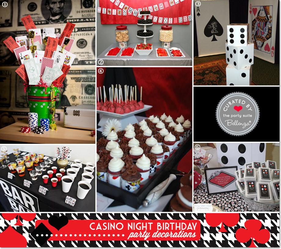 Black and red casino party theme