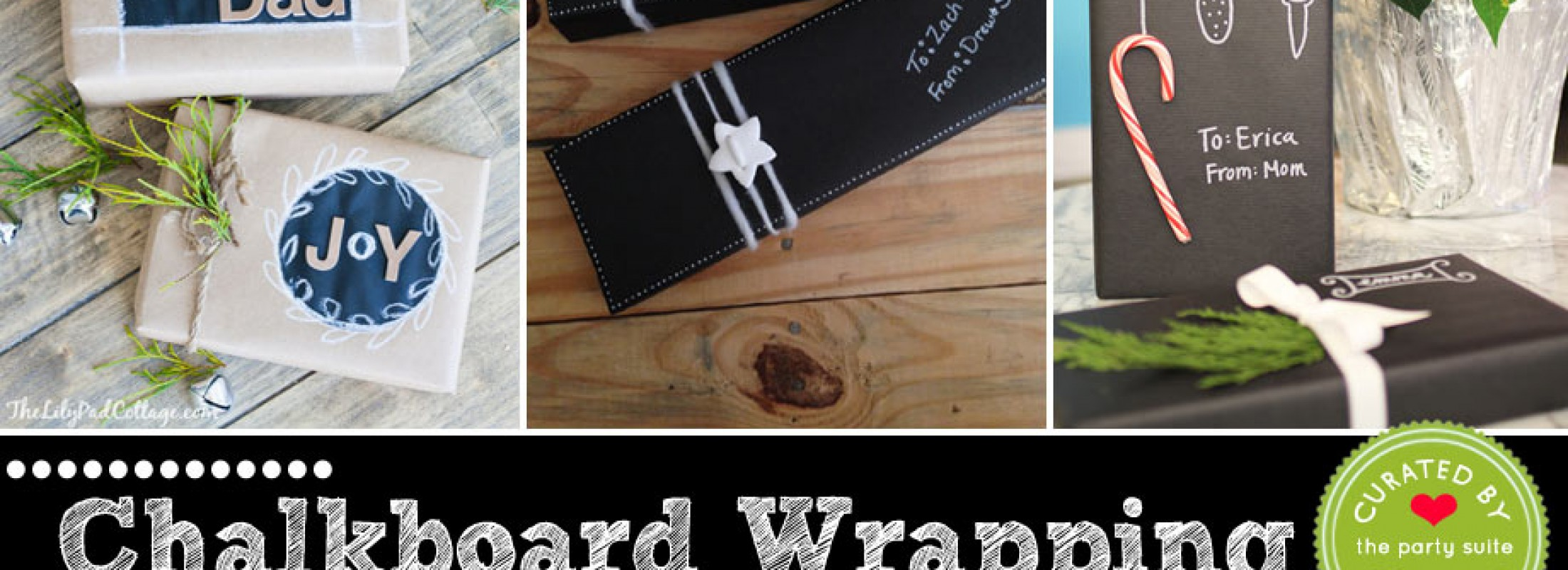 10 Chalkboard Style Gift Wrapping Ideas with Paper and Tags