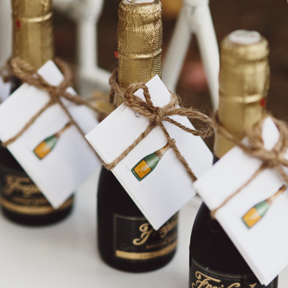 Champagne favors by Domaine Home