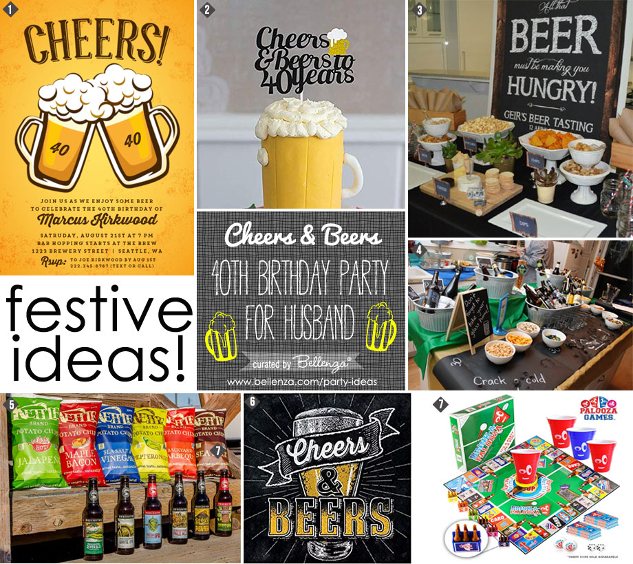 Cheers and Beers 40th Birthday Ideas