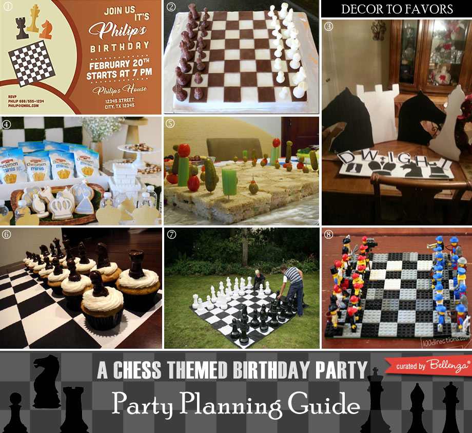 Chess themed birthday party featured ideas