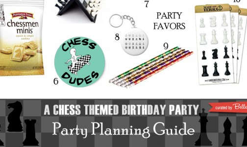 Give out chess favors that are fun like erasers.