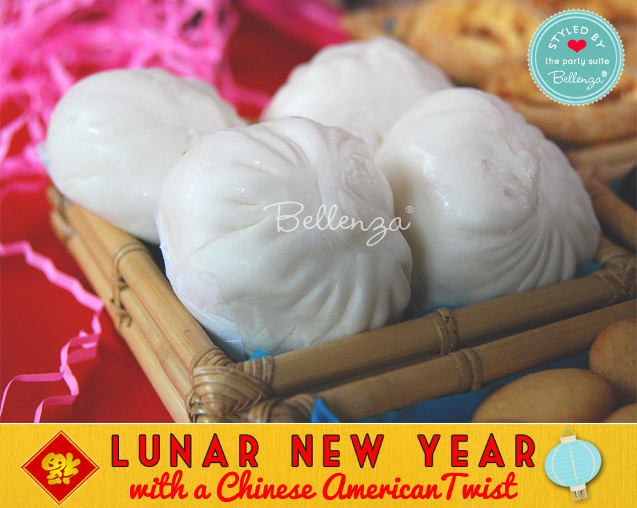 Sweet pork buns for Lunar New Year food