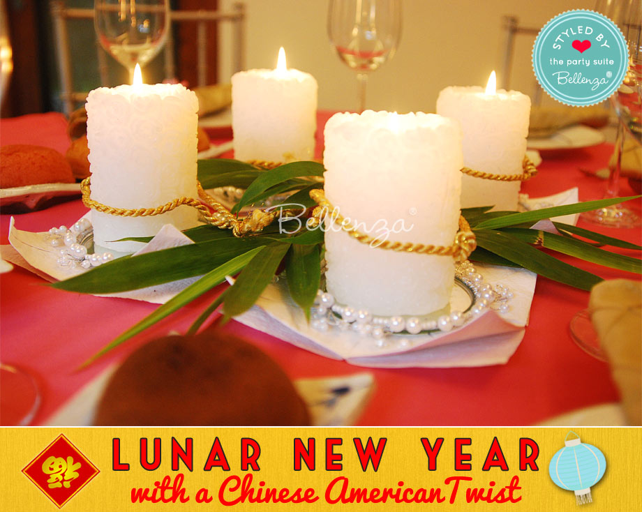 Lunar New Year Candle Centerpieces