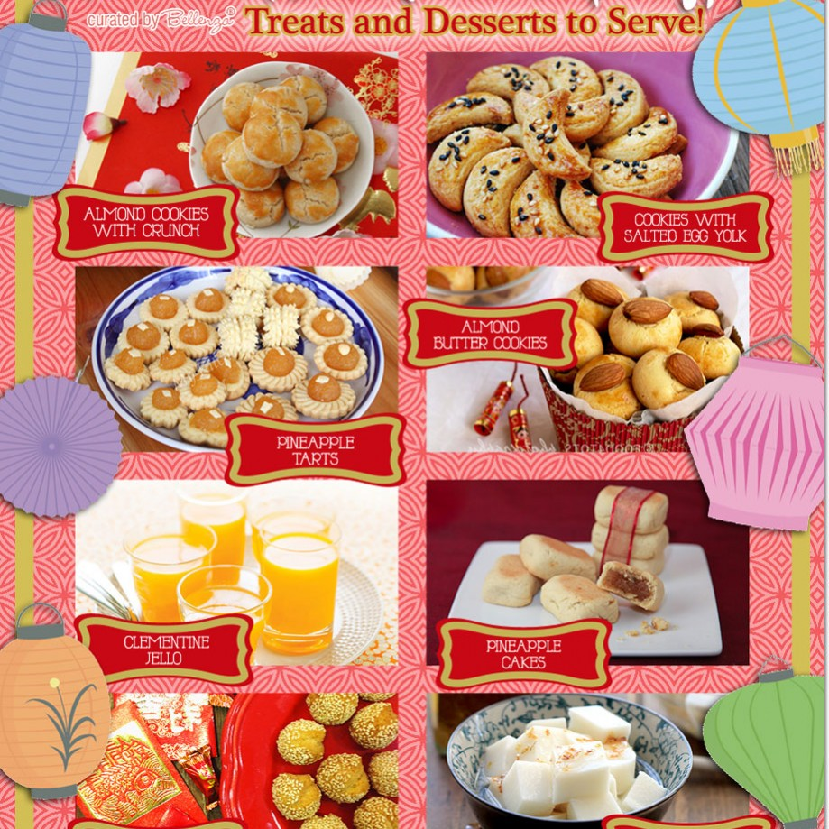 chinese new years party treats and desserts to serve