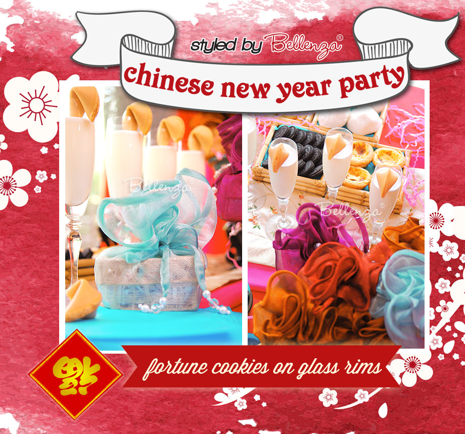 In a pretty palette of red and aqua, see how you can plan a Chinese New Year Party!