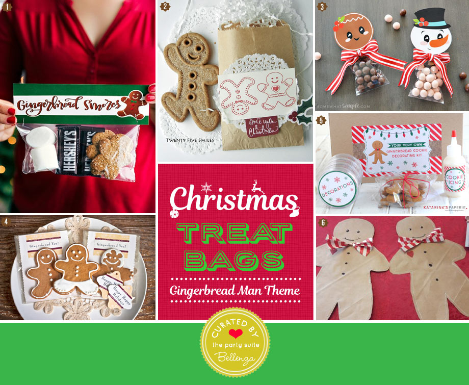 DIY Gingerbread man treat and goody bags for kids