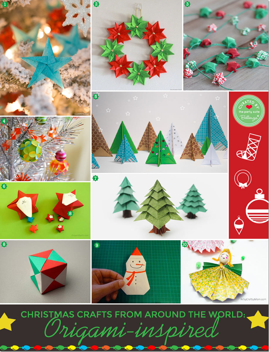 origami inspired holiday trimmings 10 diy ideas to try - Christmas Around The World Decorations